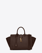 SAINT LAURENT MONOGRAMME TOTE D Small DOWNTOWN YSL leather and suede cabas bag in hazel f