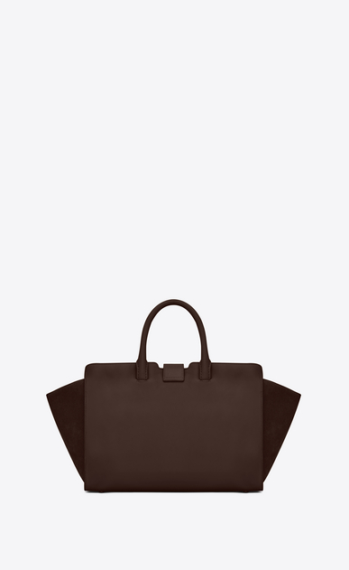 SAINT LAURENT MONOGRAMME TOTE Woman Small DOWNTOWN YSL leather and suede cabas bag in hazel b_V4