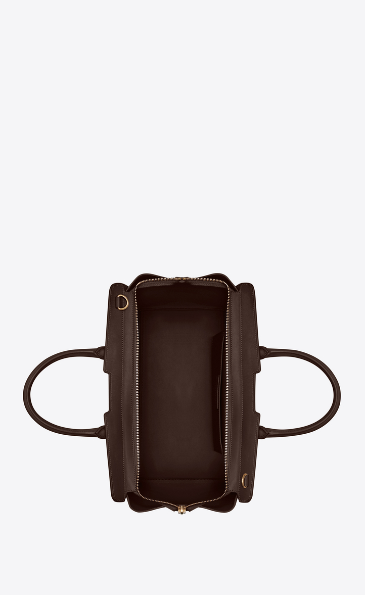 f752ef0512b1  Saint Laurent Small DOWNTOWN YSL Leather And Suede Cabas Bag In Hazel