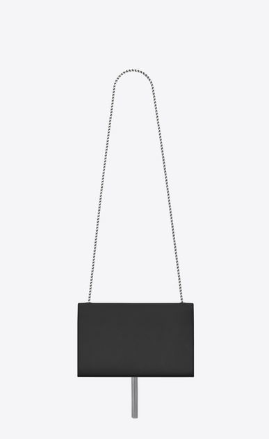 SAINT LAURENT MONOGRAM KATE WITH TASSEL D Satchel medium à pompon KATE en cuir lisse graphite b_V4