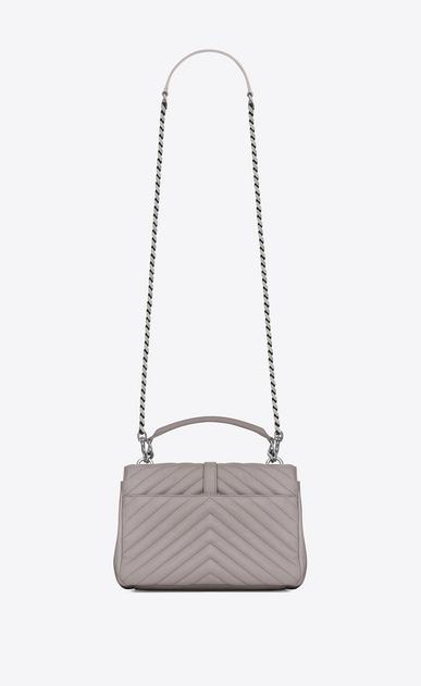 SAINT LAURENT Monogram College D Medium COLLEGE bag in mouse-gray matelassé leather b_V4