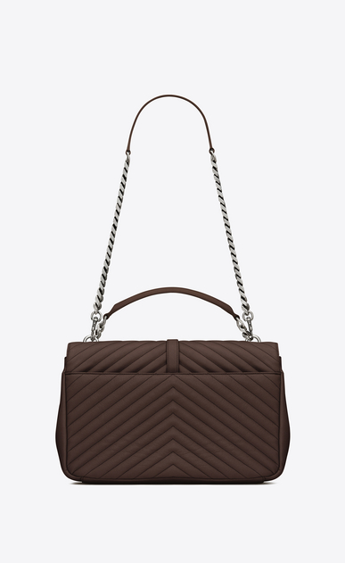 SAINT LAURENT Monogram College D Large COLLEGE bag in hazelnut matelassé leather b_V4