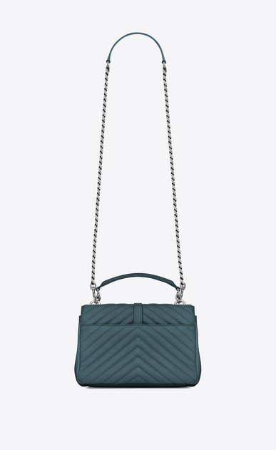 SAINT LAURENT Monogram College D Medium COLLEGE bag in green matelassé leather b_V4