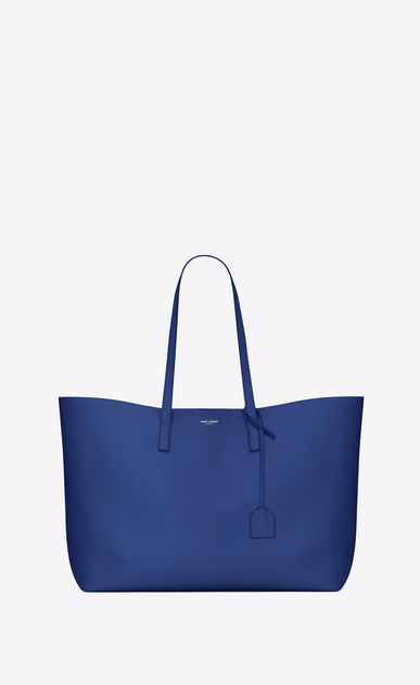 SAINT LAURENT Shopping Saint Laurent E/W Woman shopping bag in pelle blu royal a_V4