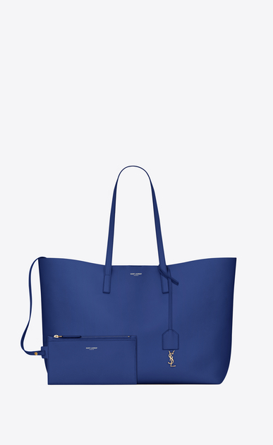 SAINT LAURENT Shopping Saint Laurent E/W Woman shopping bag in pelle blu royal b_V4
