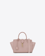 SAINT LAURENT MONOGRAMME TOTE D Baby DOWNTOWN leather and suede cabas bag in powder pink f