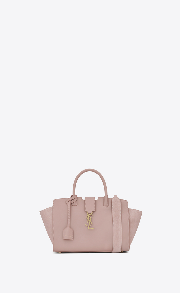 Saint Laurent Baby DOWNTOWN Leather And Suede Cabas Bag In Powder ... 4aac7312703b