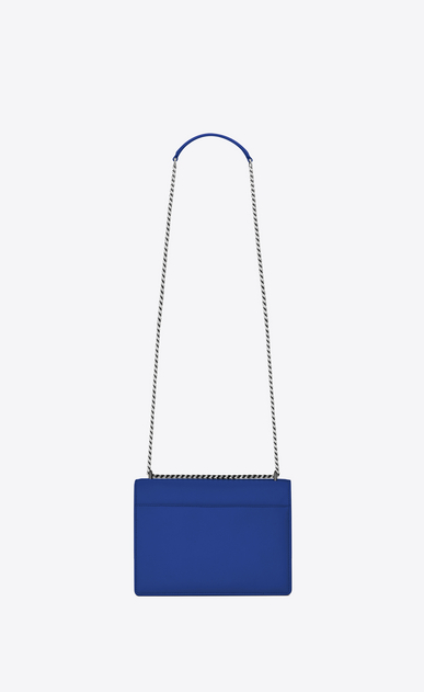 SAINT LAURENT Sunset Femme Sac Medium SUNSET en cuir bleu roi b_V4