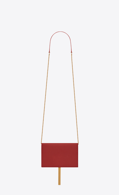 SAINT LAURENT Mini bags Kate Woman KATE chain and tassel wallet in red leather b_V4