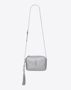 SAINT LAURENT Camera bag D LOU camera bag in platinum lamé leather f
