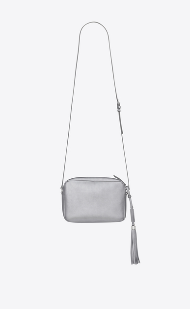 SAINT LAURENT Camera bag Woman LOU camera bag in platinum lamé leather b_V4