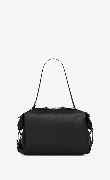 SAINT LAURENT ID Woman Medium ID Convertible bag in black moroder leather a_V4