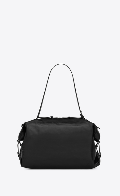 SAINT LAURENT ID Woman Medium ID Convertible bag in black moroder leather b_V4