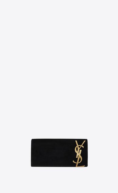 SAINT LAURENT Clutches D SMOKING clutch in black velvet a_V4