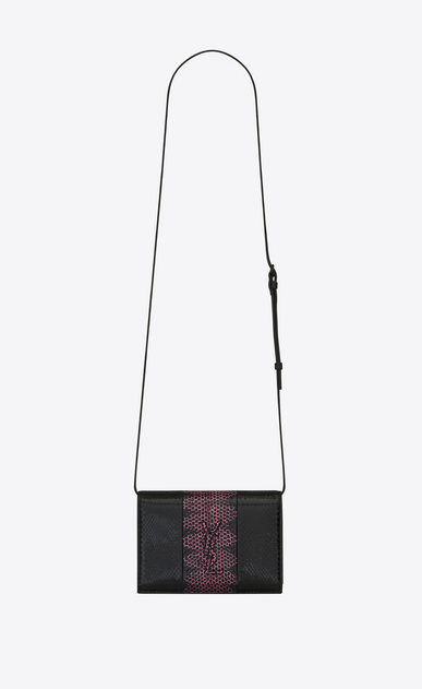 SAINT LAURENT Mini bags Kate D KATE Toy bag in black and fuchsia ayers a_V4
