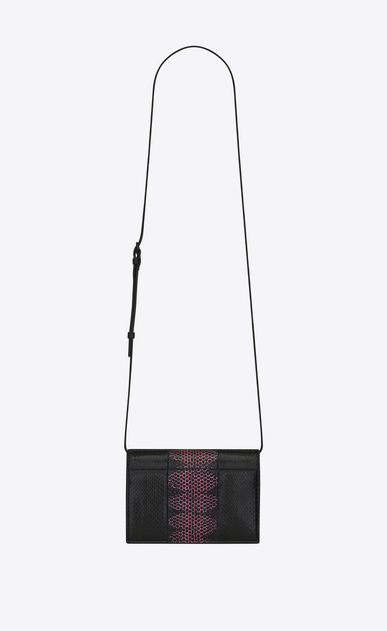SAINT LAURENT Mini bags Kate D KATE Toy bag in black and fuchsia ayers b_V4
