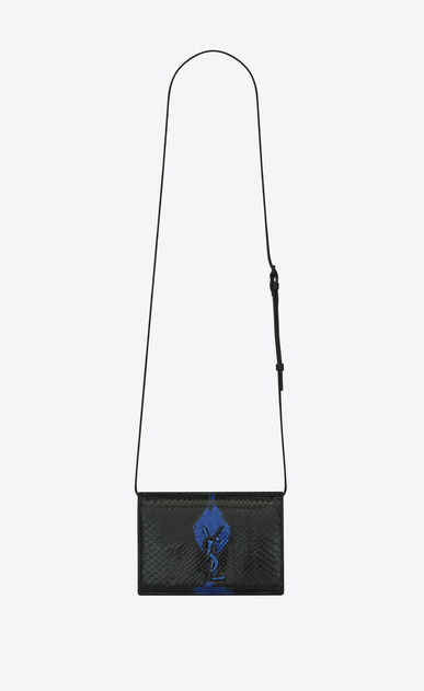 KATE Toy bag in black and blue python
