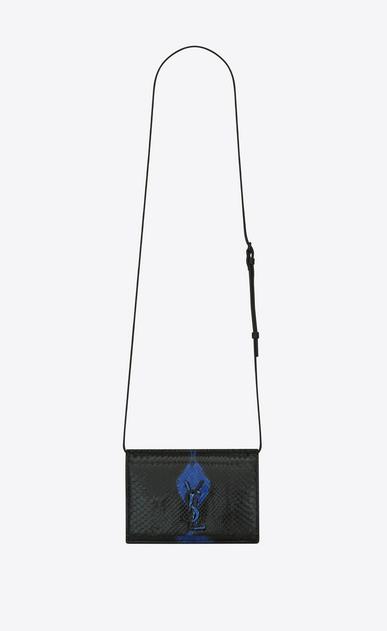 SAINT LAURENT MONOGRAM KATE D KATE Toy bag in black and blue python v4