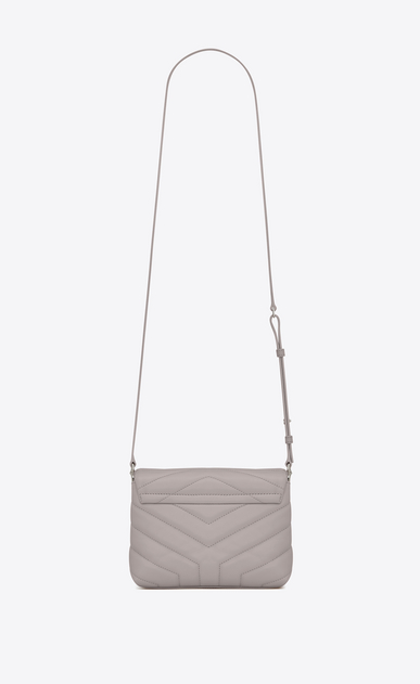 "SAINT LAURENT Monogramme Loulou D Small TOY LOULOU bag in mouse-gray ""Y"" matelassé leather b_V4"