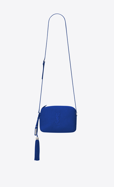 SAINT LAURENT Camera bag D LOU camera bag in royal blue leather a_V4