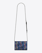 SAINT LAURENT MONOGRAM KATE D KATE Toy bag in black, ocean and fuchsia ayers f