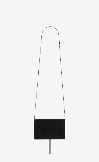 SAINT LAURENT MONOGRAM KATE WITH TASSEL D Portefeuille à chaîne et pompon KATE en velours noir et cristaux b_V4