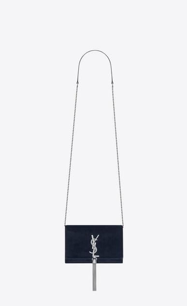 SAINT LAURENT MONOGRAM KATE WITH TASSEL D KATE chain and tassel wallet in dark blue velvet and crystals v4