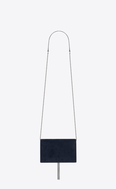 SAINT LAURENT Mini bags Kate Donna Portafogli KATE con catena e nappina blu scuro in velluto e cristallo b_V4