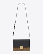 SAINT LAURENT Bellechasse D Satchel medium BELLECHASSE SAINT LAURENT en cuir noir et suède taupe f