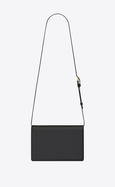 SAINT LAURENT Bellechasse D Medium BELLECHASSE SAINT LAURENT bag in black leather and taupe suede b_V4