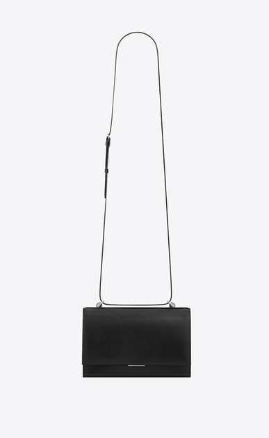 SAINT LAURENT Babylone D Small BABYLONE satchel in smooth black leather a_V4