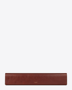 SAINT LAURENT Clutches D FETICHE long clutch in cognac shiny leather f