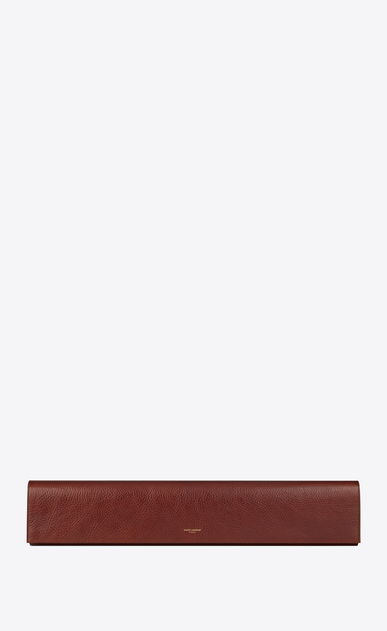 SAINT LAURENT Clutches D FETICHE long clutch in cognac shiny leather a_V4