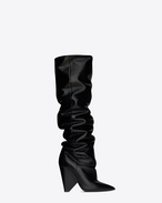 SAINT LAURENT Niki D NIKI 105 thigh-high boot in black moroder leather f
