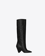 SAINT LAURENT Niki D NIKI 85 boot in black moroder leather f
