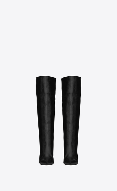SAINT LAURENT Niki D NIKI 85 boot in black moroder leather b_V4