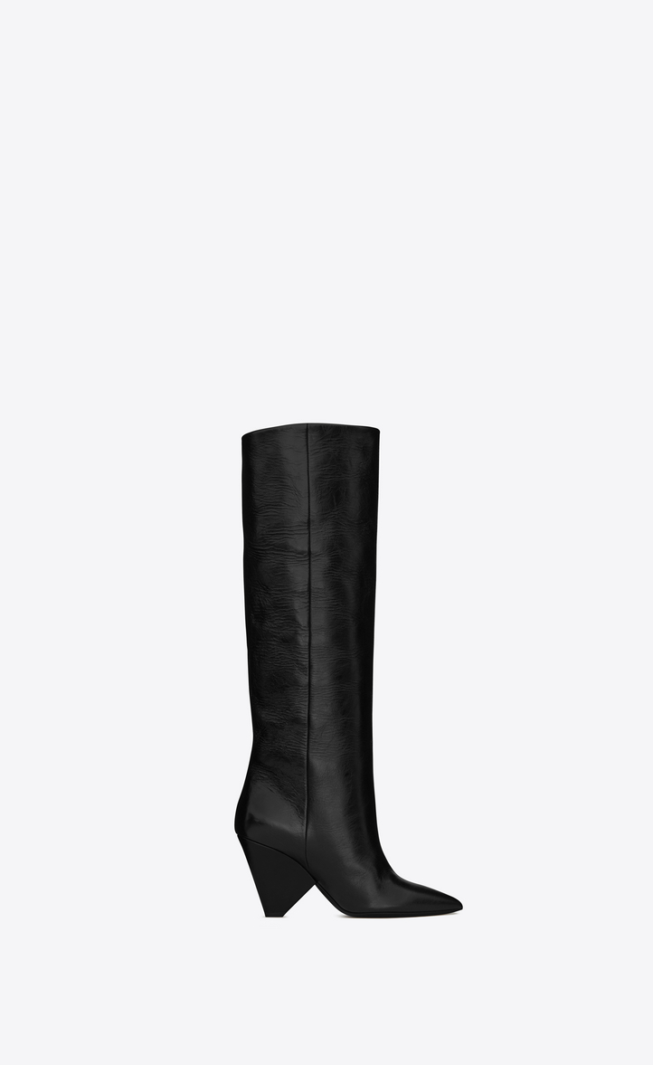 28db2c8464531 Saint Laurent NIKI 85 Boot In Black Moroder Leather   YSL.com