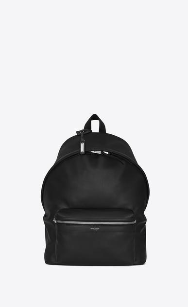 SAINT LAURENT Backpack Homme sac à dos city en cuir mat noir a_V4