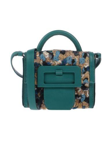 MAISON MARGIELA レディース ハンドバッグ グリーン 革 / 紡績繊維