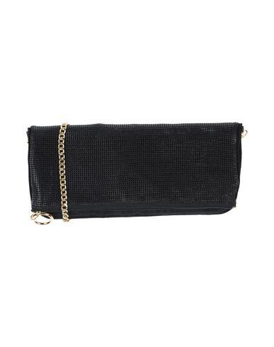 E_GO' SONIA DE NISCO レディース ハンドバッグ ブラック 羊類革 / 紡績繊維