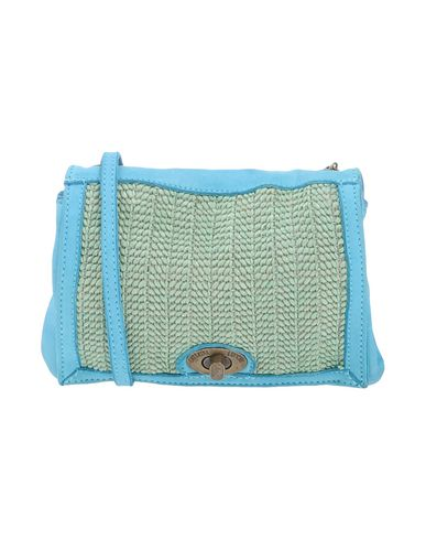 CATERINA LUCCHI レディース メッセンジャーバッグ ライトグリーン 革 / 紡績繊維
