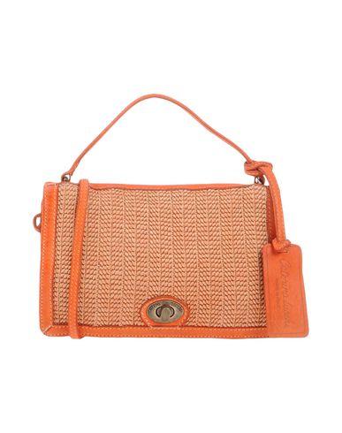 CATERINA LUCCHI レディース ハンドバッグ 赤茶色 革 / 紡績繊維