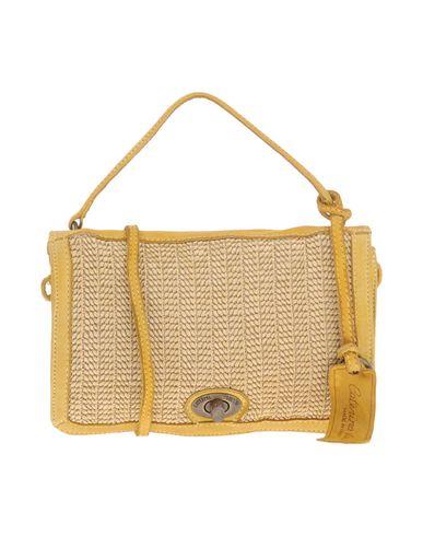 CATERINA LUCCHI レディース ハンドバッグ イエロー 革 / 紡績繊維