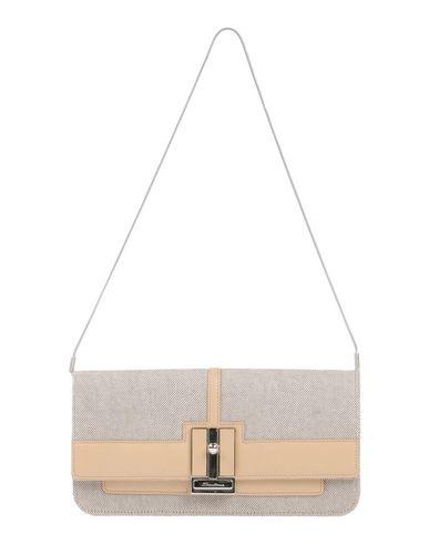SANTONI レディース ハンドバッグ サンド 紡績繊維 / 革