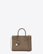 SAINT LAURENT Baby Sac de Jour D classic baby sac de jour bag in taupe grained leather f