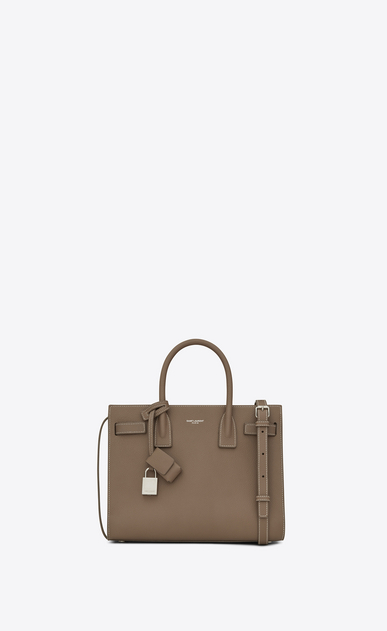 SAINT LAURENT Baby Sac de Jour D classic baby sac de jour bag in taupe grained leather a_V4