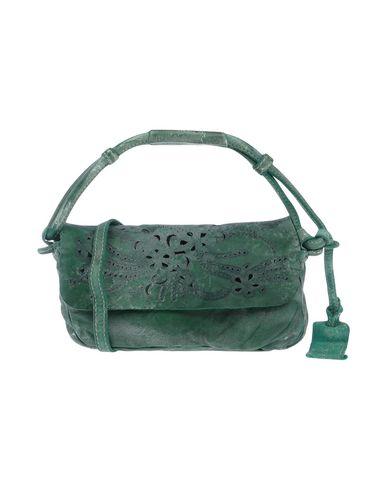 CATERINA LUCCHI レディース ハンドバッグ グリーン 革 100%