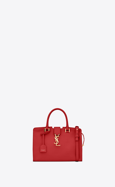 SAINT LAURENT Monogram Baby Cabas D baby cabas ysl bag in red leather a_V4