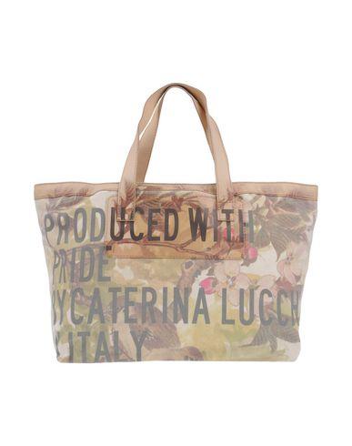 CATERINA LUCCHI レディース ハンドバッグ ベージュ 紡績繊維 / 革