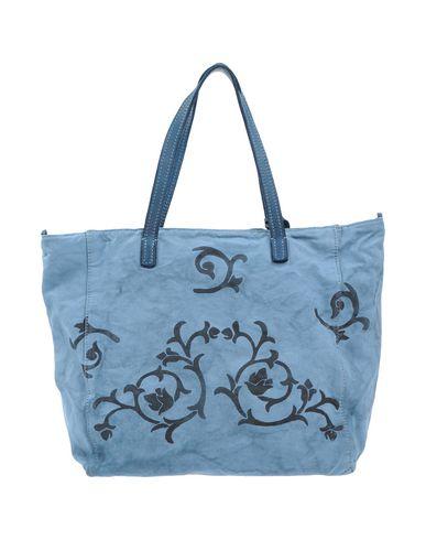 CATERINA LUCCHI レディース ハンドバッグ アジュールブルー 紡績繊維 / 革